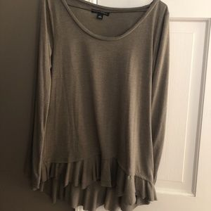 Asymmetrical ruffled top